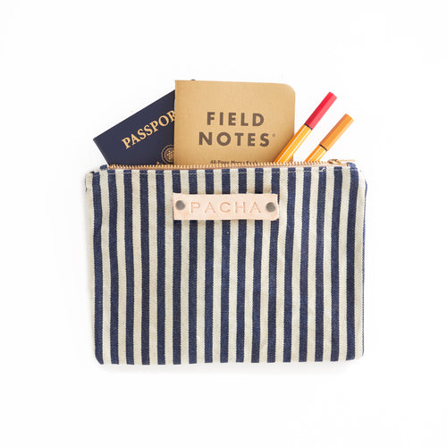 Medium Field Pouch - Striped Blue