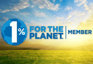 We donate 1% of our annual revenue to environmental projects