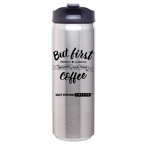16 oz Stainless Steel Travel Mug, Silver