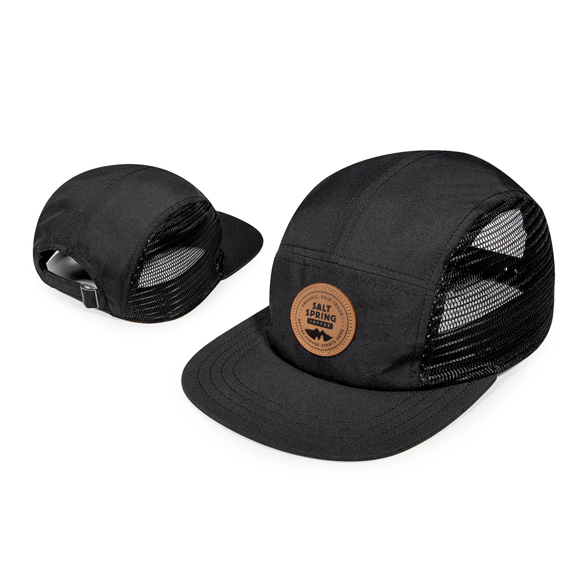 Runners Cap - Cotton Black