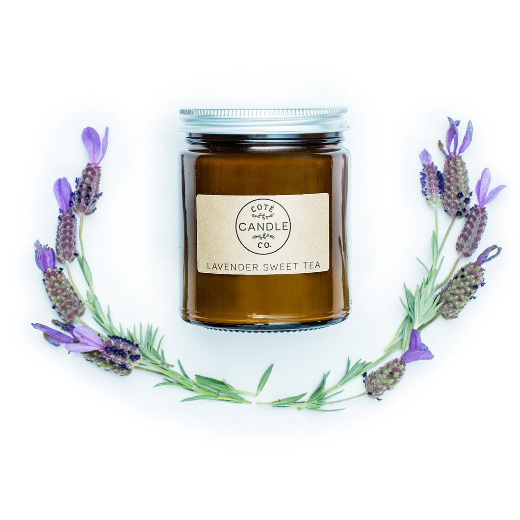 8 oz Lavender Sweet Tea Soy Candle