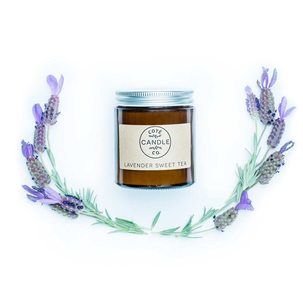 4 oz Lavender Sweet Tea Soy Candle