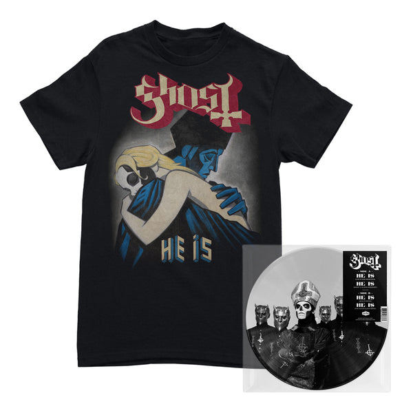 "Ghost - ""He Is"" Limited Edition 10"" Vinyl Picturedisc + T-Shirt Bundle"