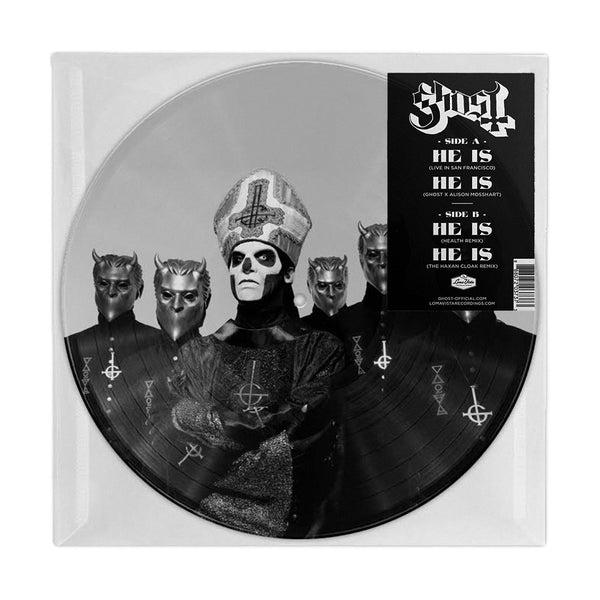 "Ghost - ""He Is"" Limited Edition 10"" Vinyl Picturedisc"