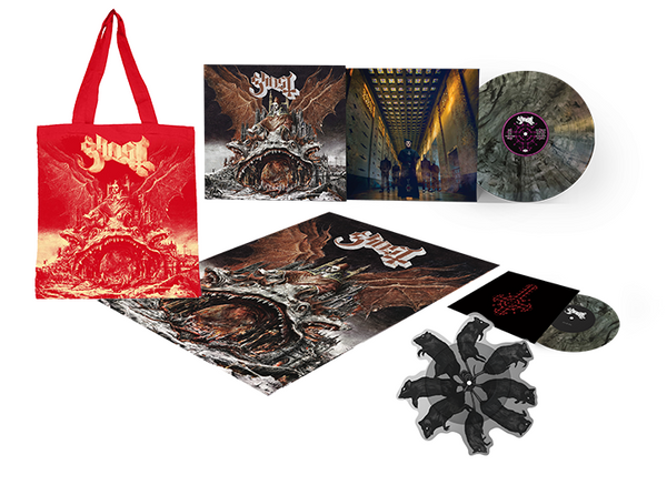 Ghost - Prequelle Deluxe Clear Smoke & Rats Vinyl & Tote Bundle