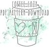 Coffee Cozy PDF PATTERN DOWNLOAD