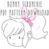 Bunny Scrunchie PDF PATTERN DOWNLOAD
