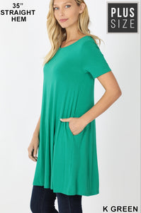 EMILY style KELLY GREEN Tunic Top with Pockets