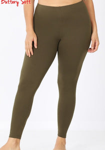 DARK OLIVE Buttery Soft Full Length Leggings