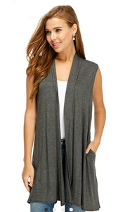 Waterfall Vest with Pockets