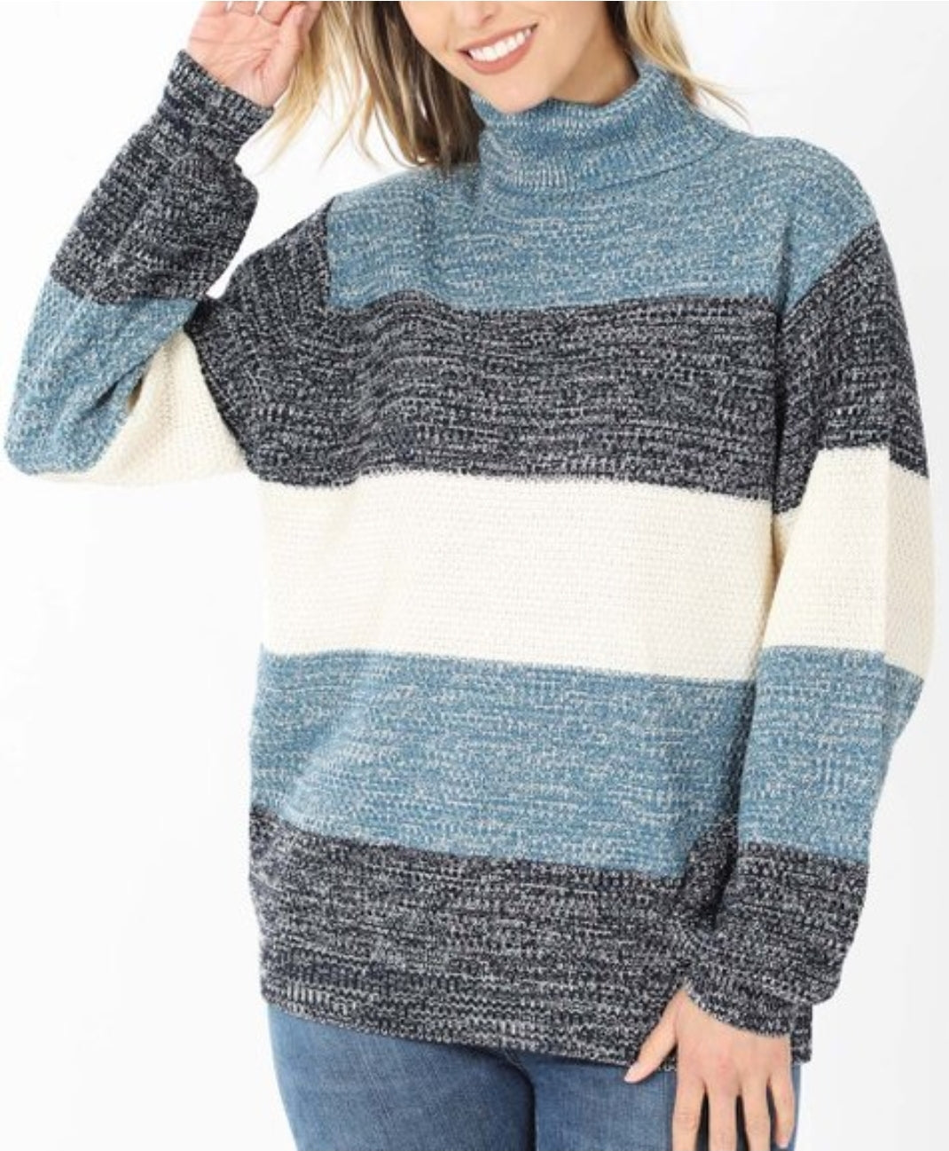 LACED WITH LOVE Soft Colorblock Sweater