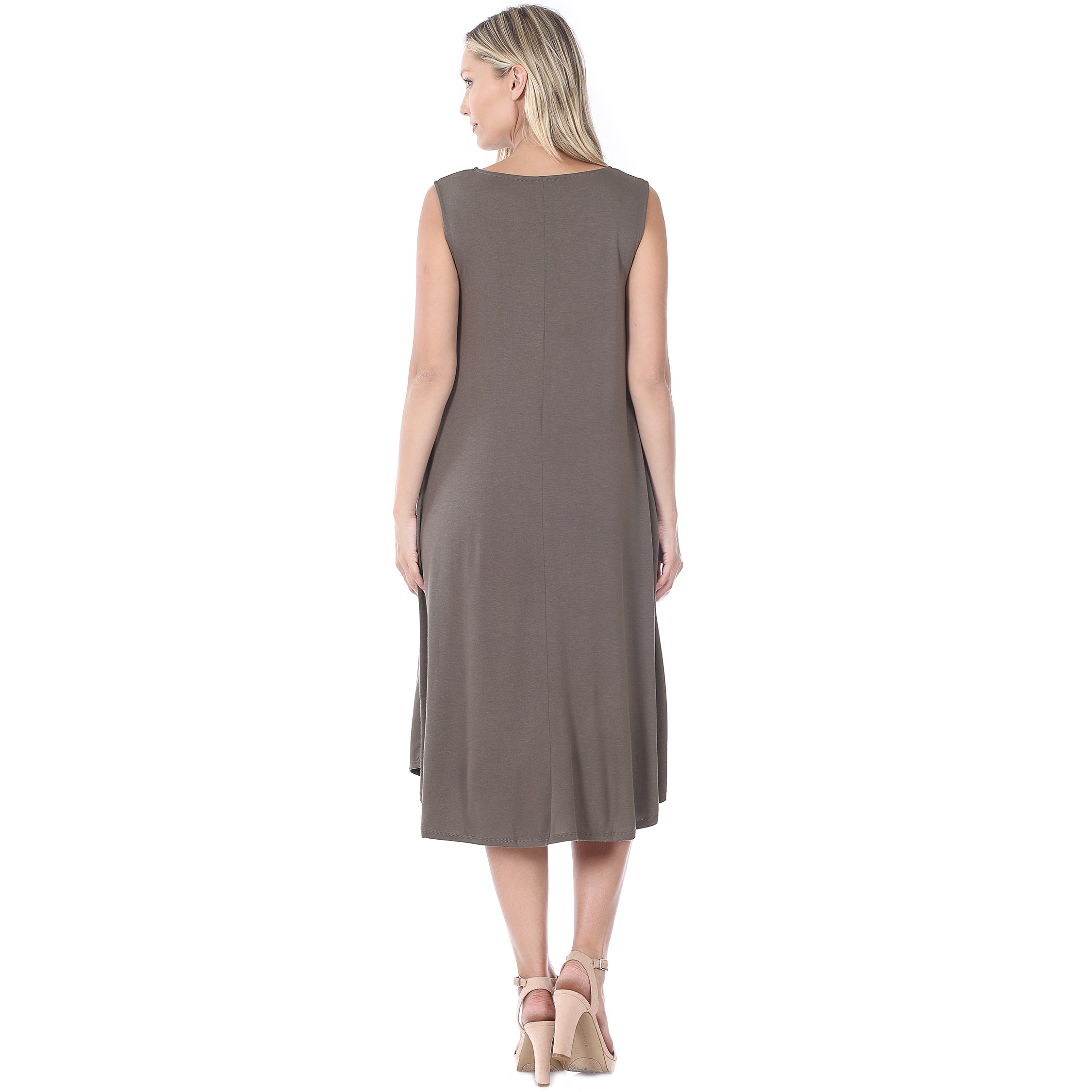 PURSUIT OF HAPPINESS Grey Midi length Sleeveless Dress