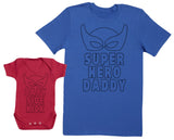 Baby Sidekick & Superhero Daddy Hommes T-shirt & Body bébé