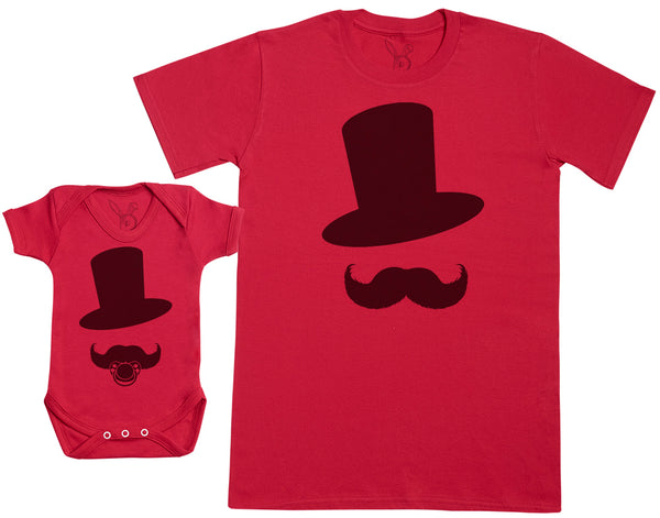 Big Little Moustache Men - Hommes T-shirt & Body bébé