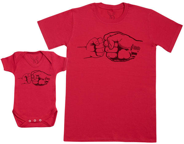 Baby & Dad Fist Punch - Hommes T-shirt & Body bébé