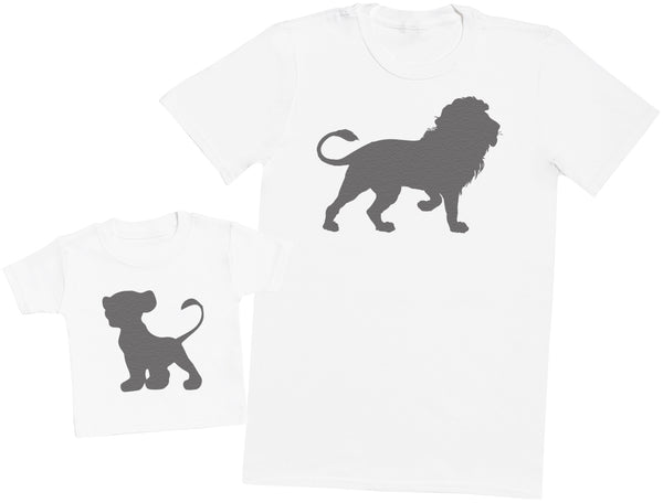 Lion And Cub - Hommes T-shirt & T-Shirt bébé