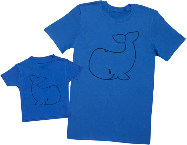 Baby And Adult Whale - Hommes T-shirt & T-Shirt bébé
