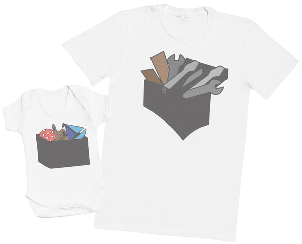 Tool Box And Toy Box - Hommes T-shirt & Body bébé