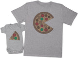Pizza And Pizza Slice - Hommes T-shirt & Body bébé