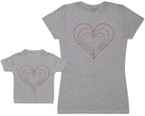 Mummy And Baby Hearts - Femme T Shirt & bébé T-Shirt