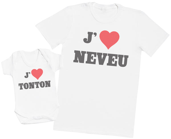 Love Neveu Love Tonton - Hommes T-shirt & Body bébé