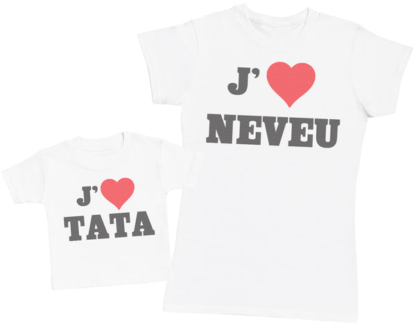Love Neveu & Love Tata - Femme T Shirt & bébé T-Shirt