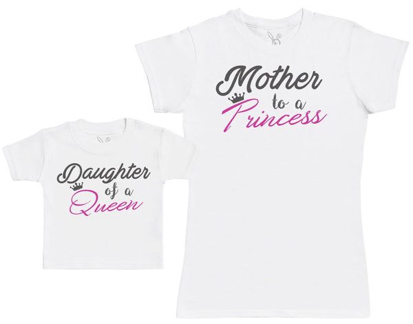 Daughter Of A Queen & Mother To A Princess - Femme T Shirt & bébé T-Shirt