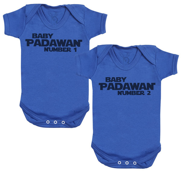 Baby Padawan Number 1 & 2 Baby Body - Body bébé Twin Set