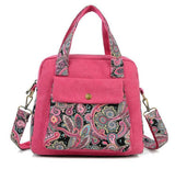 Hot Pink Canvas with Paisley Design Handbag