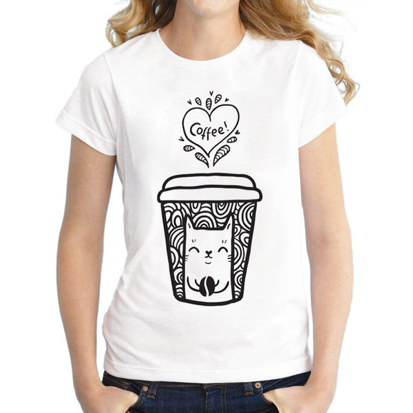 Coffee and Cats T-Shirt