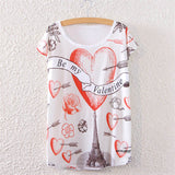 Women's Short Sleeve Tops Casual Kitty and More