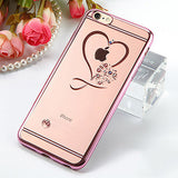 iPhone Case 6 / 6s / Plus - Clear Love Heart