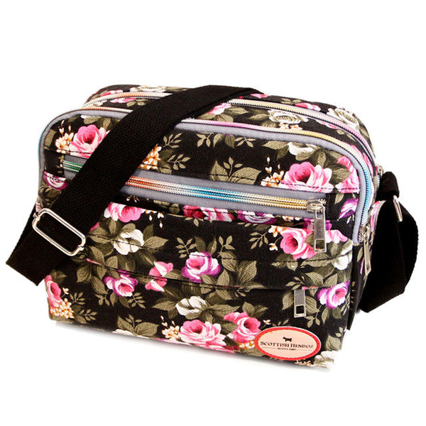 Small Floral Crossbody Messenger Handbag