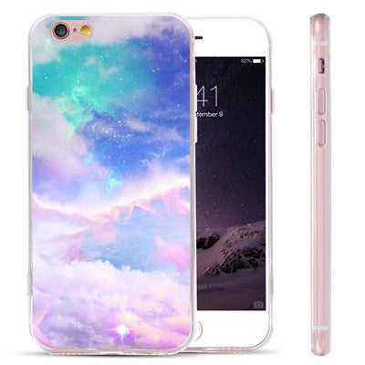 Blue Pink Sky Phone Cases for iPhones and Samsungs