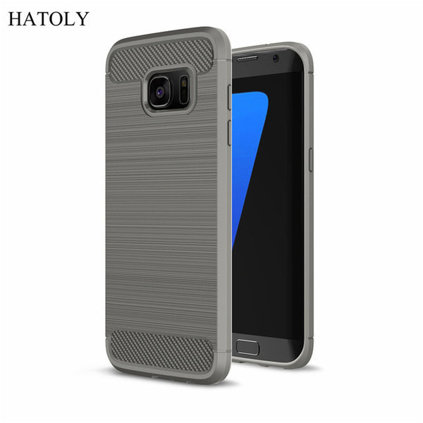 Slim Rugged Armor Shockproof Hybrid Soft Rubber Phone Case for Samsung S7 G930f