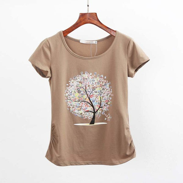Cut Cotton Women's Tree Shirt