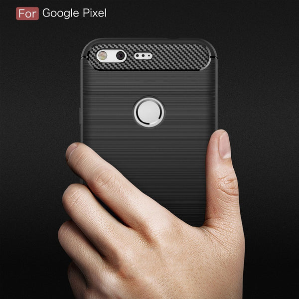 Anti-drop Soft Carbon Fiber Luxury TPU Case for Google Pixel