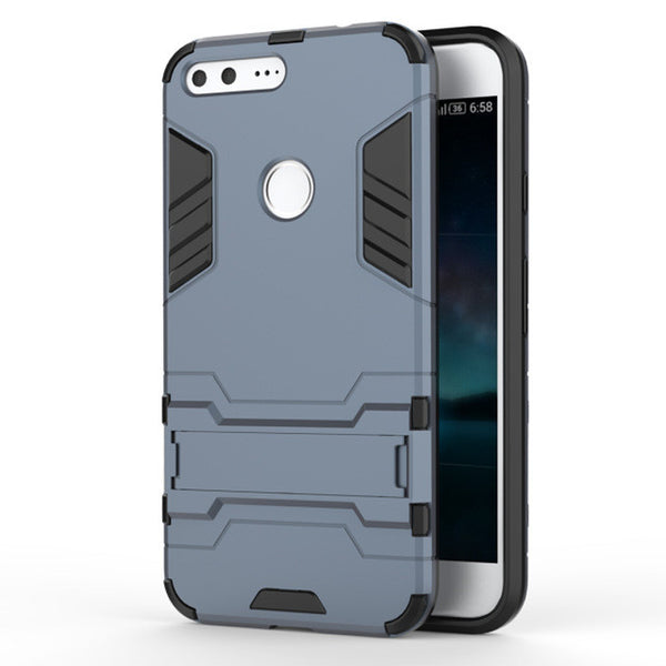 Armor Kickstand Shockproof Phone Case for HTC Google Pixel XL 5.5''