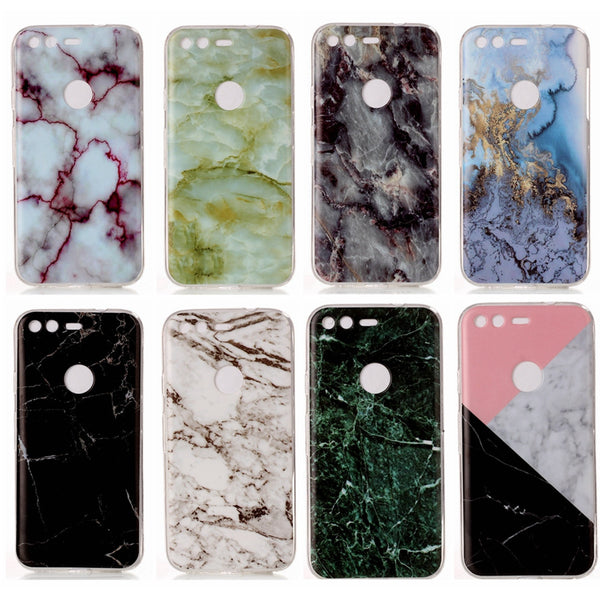 Beautiful Marble Patterns Soft Silicon TPU for Google Pixel 5.0'' / Pixel XL 5.5''