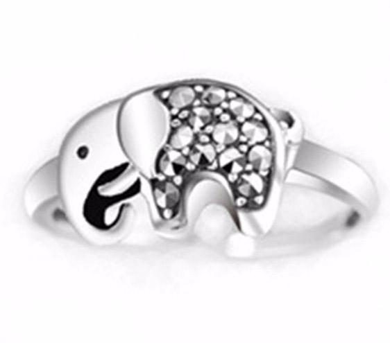 Baby Elephant Ring Sterling Silver