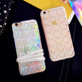 Heart TPU Phone Case With String For iPhone X / 8 / 7 / 6 / 5 Models