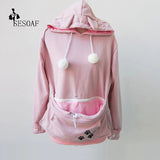 Cat Pet Pouch Pullover Hoodie with Ears