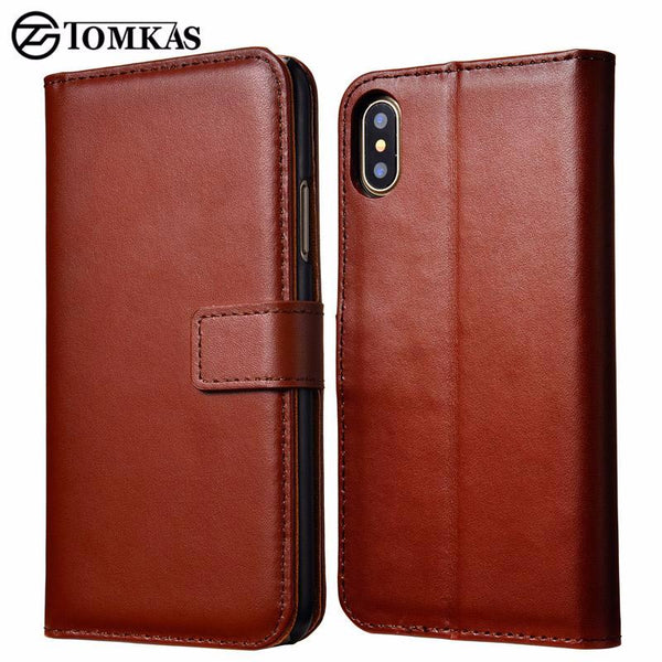 Vegan Leather Wallet Phone Case For iPhone X