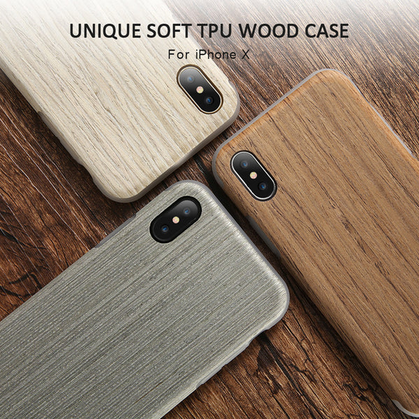 Wood Pattern Phone Cases for iPhone X / 8 / 7 / 6 Models