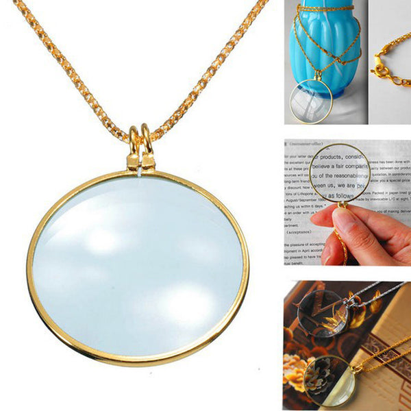 Reading 6 x Magnifier Pendant Necklace
