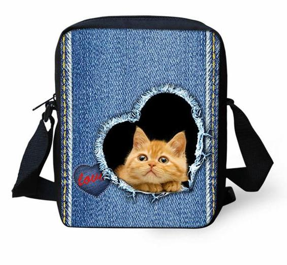 Adorable Kitten Mini Messenger Bag