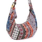 Floral Paisley Large Cotton Shoulder Bag