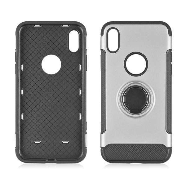 Shockproof Hard Phone Case 360 Rotate Ring Holder Phone Back Case for IPhone X / 8 / 7 / 6 Models