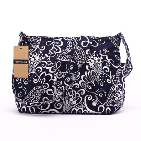 Boho Cotton Natural Color Print Shoulder Bags