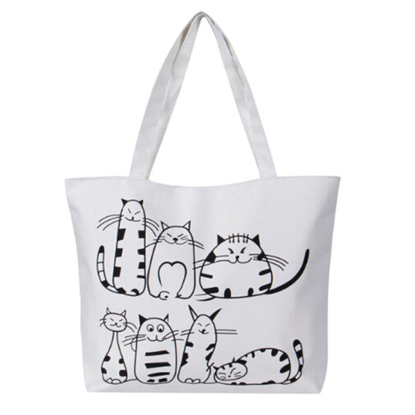 Cats Canvas Tote Bag